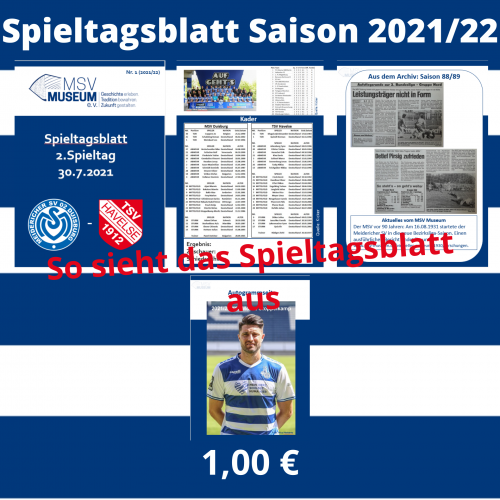 Spieltagsblatt Shop